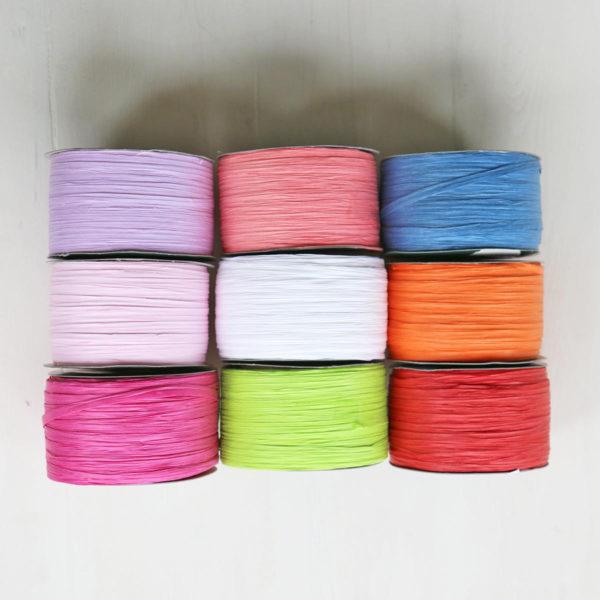 Paper Raffia Ribbon Colours