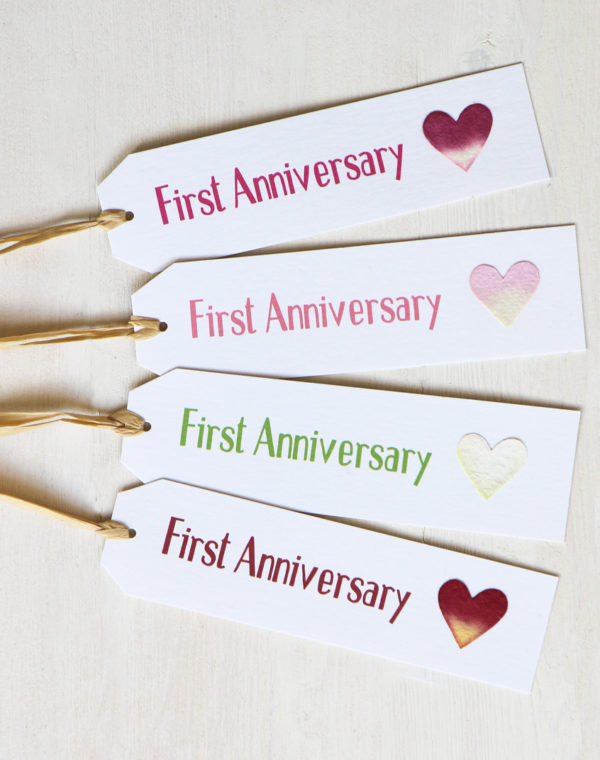 First Anniversary Gift Tag