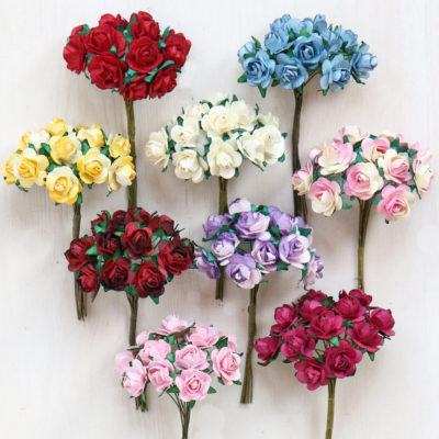 Paper Craft Diy Paper Flowers For Card Making Stationery Gifts