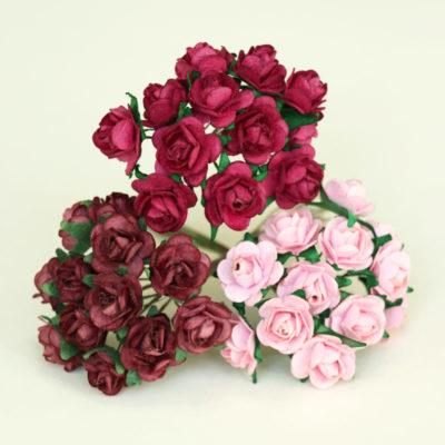 PInk Mini Paper Roses