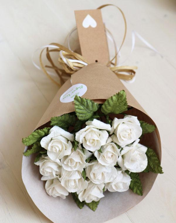 White Paper Roses