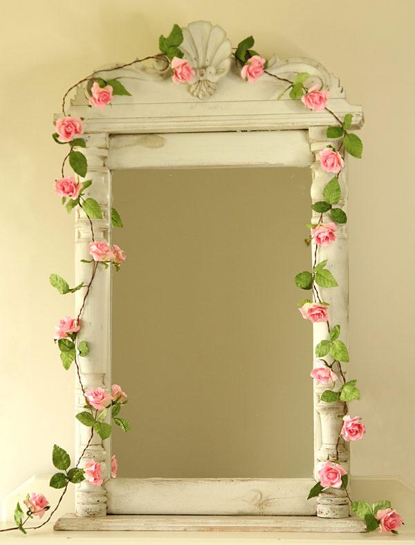 Paper Rose Garland Pale Pink