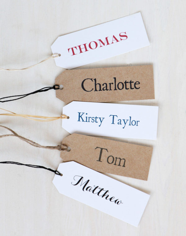 Personalised Place Name Tags