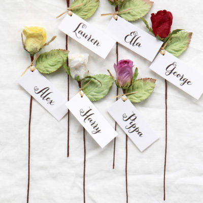 Rose Personalised Favours