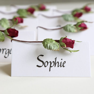 Wedding Name Cards Rosebud