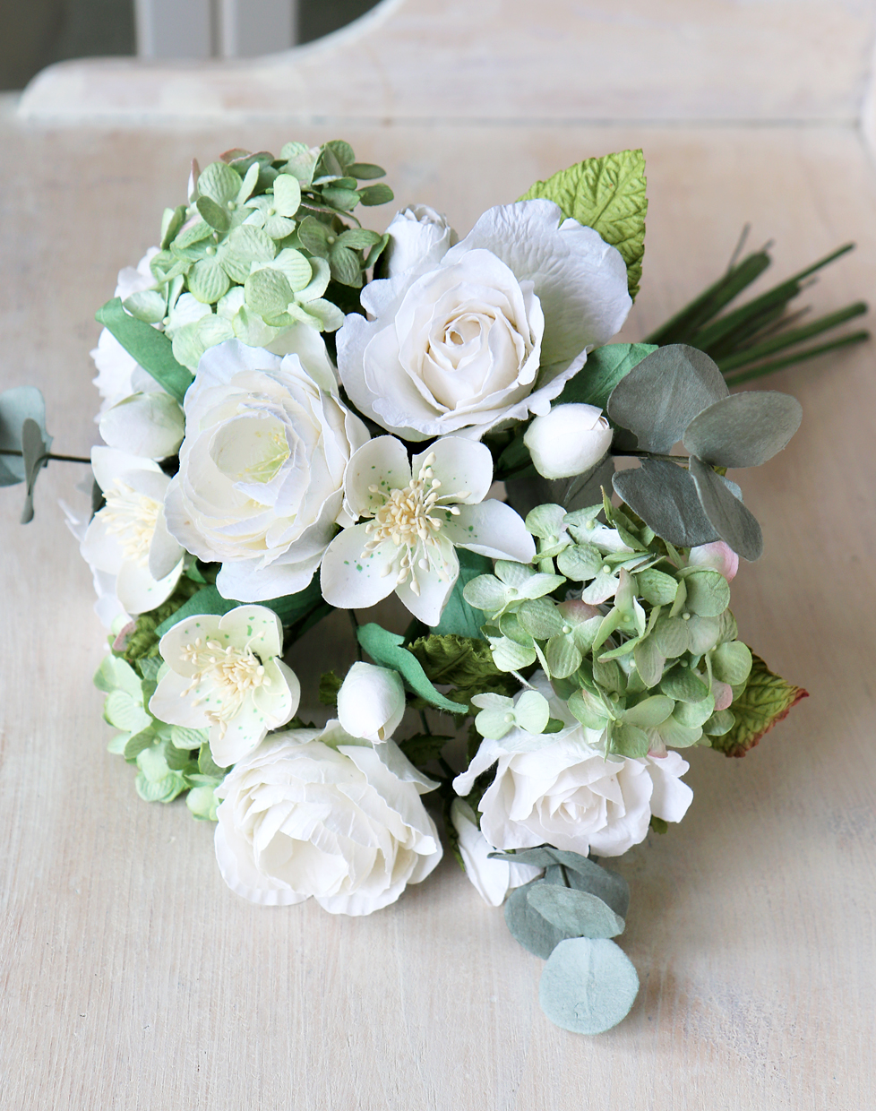 Paper Flower Bridal Bouquet In