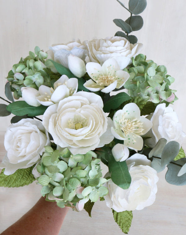 Paper Wedding Bouquet White