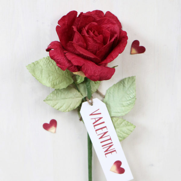 Valentines Paper Rose Gift