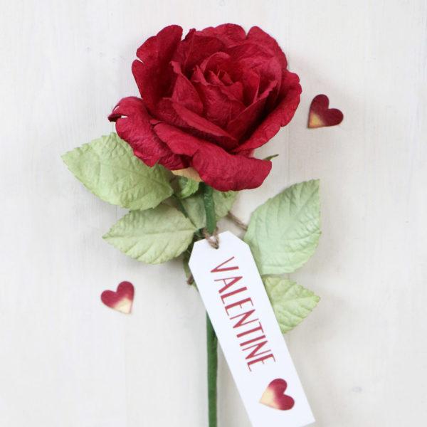 Valentines Paper Rose Gift