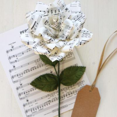 Music Score Rose