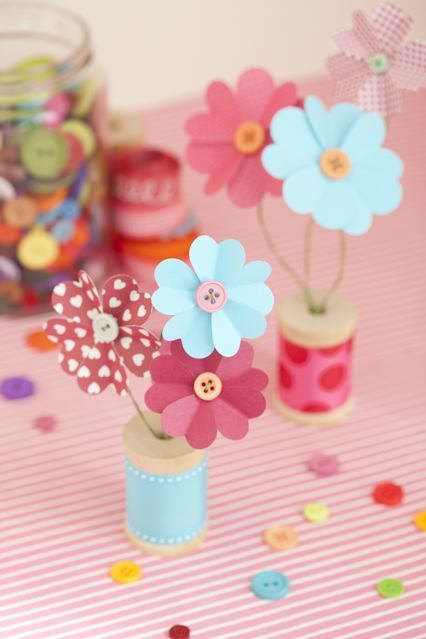 DIY Paper Flowers for Mothers Day