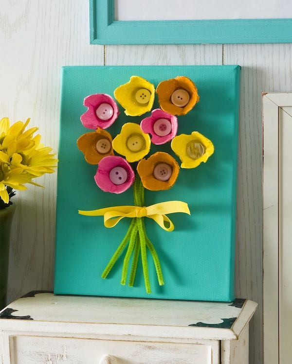 Egg Carton Flowers DIY