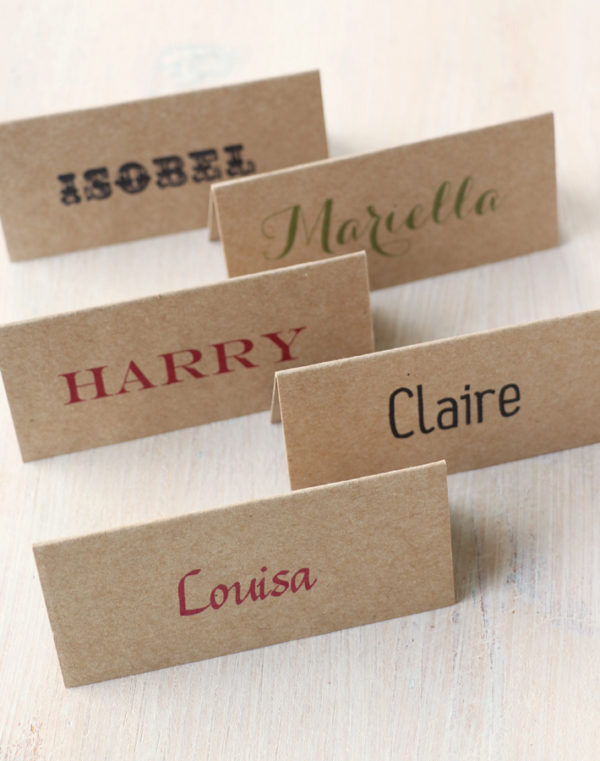 Kraft Place Name Card