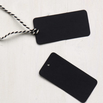 Black Gift Tags