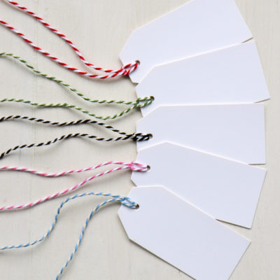 White Gift Luggage Tags
