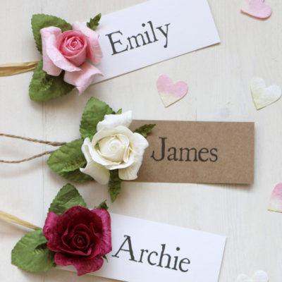 Paper Rose Favour