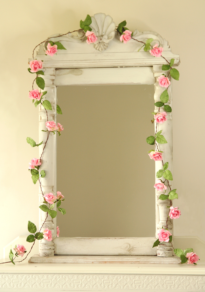 paper rose garland