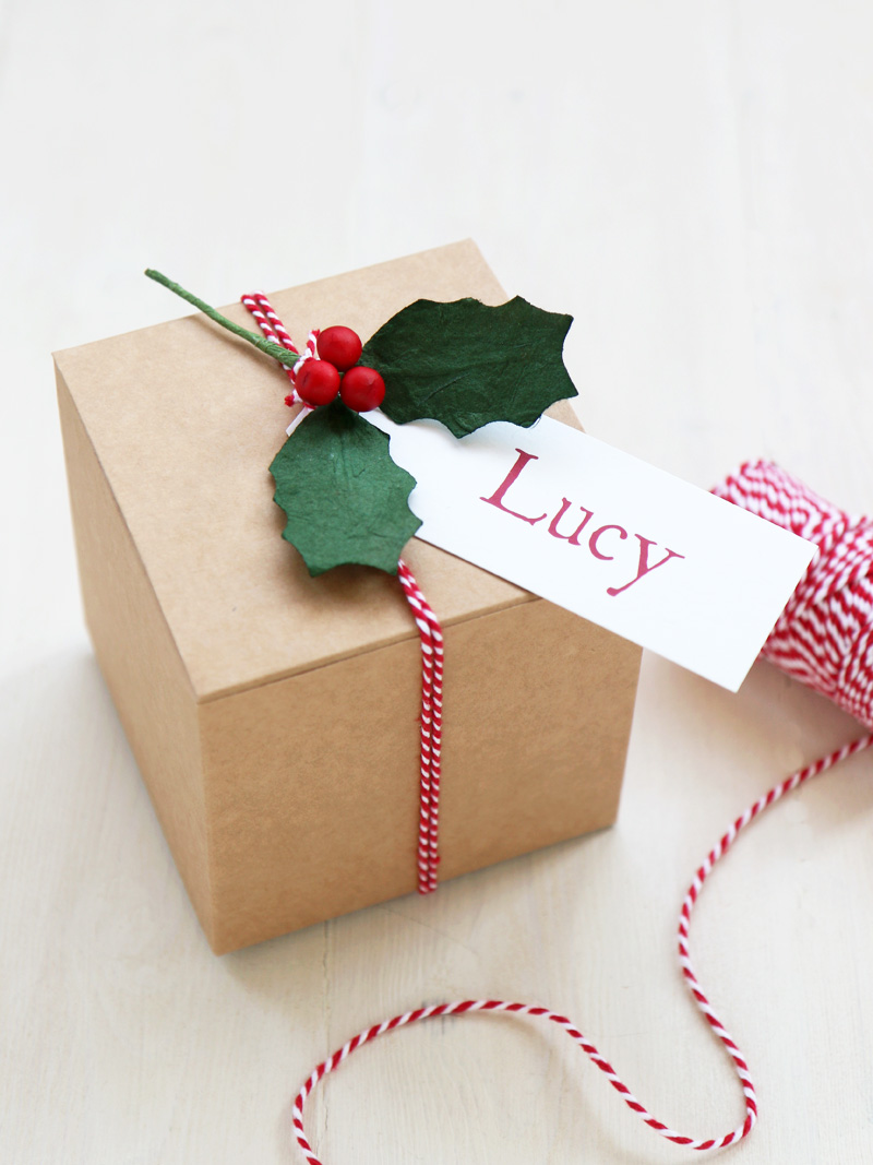 Diy Christmas Gift Box 10cm Square