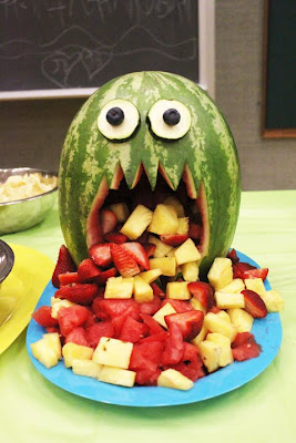 Halloween melon monster