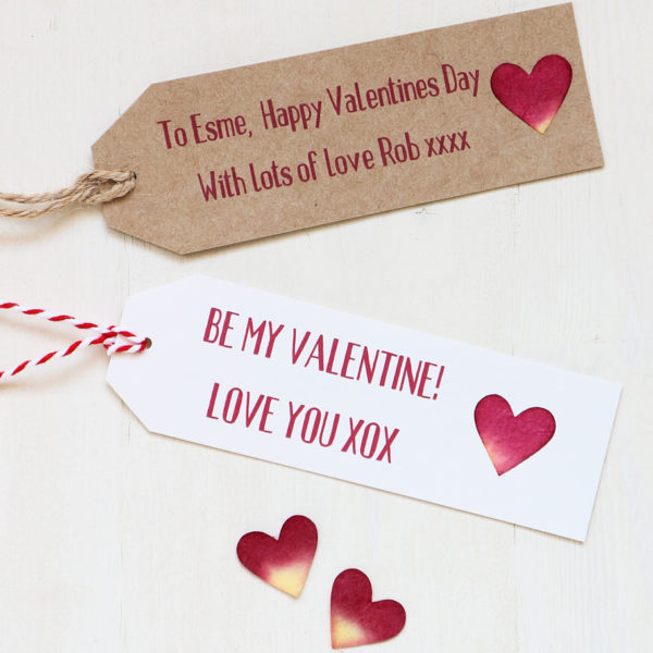 Personalised Valentines Gift Tag