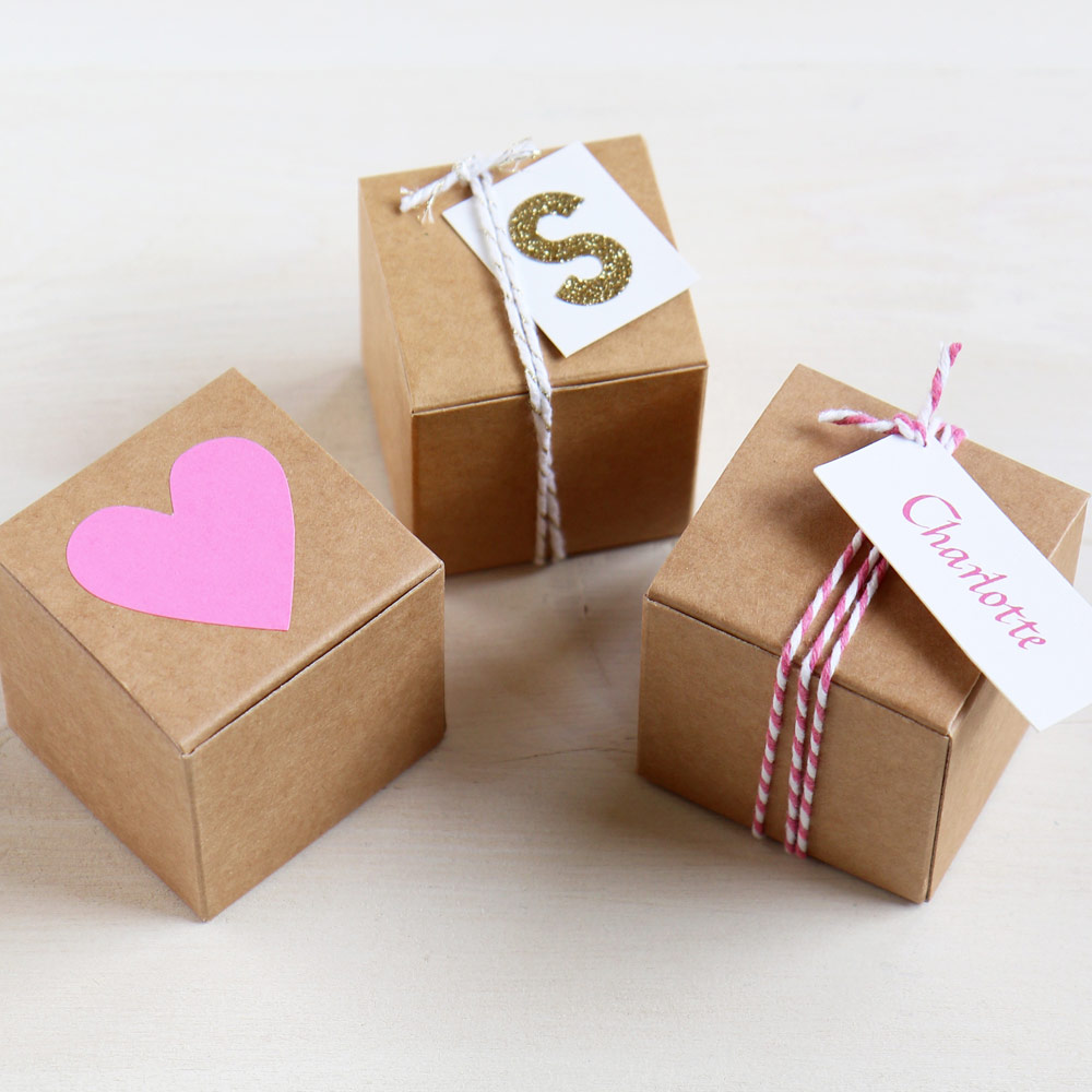 Small Valentines Gift Box | DIY Box for Gifts & Favours