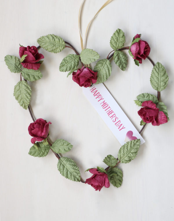 Mothers Day heart wreath