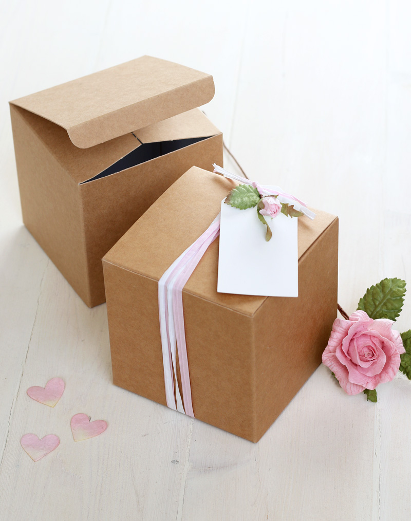 Diy Mother S Day Gift Box 10cm Square Homemade Treats Box