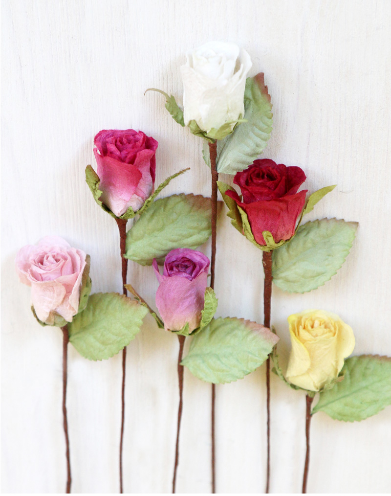 Small Paper Roses Craft Weddings Favours Gifts Decoration 18cm