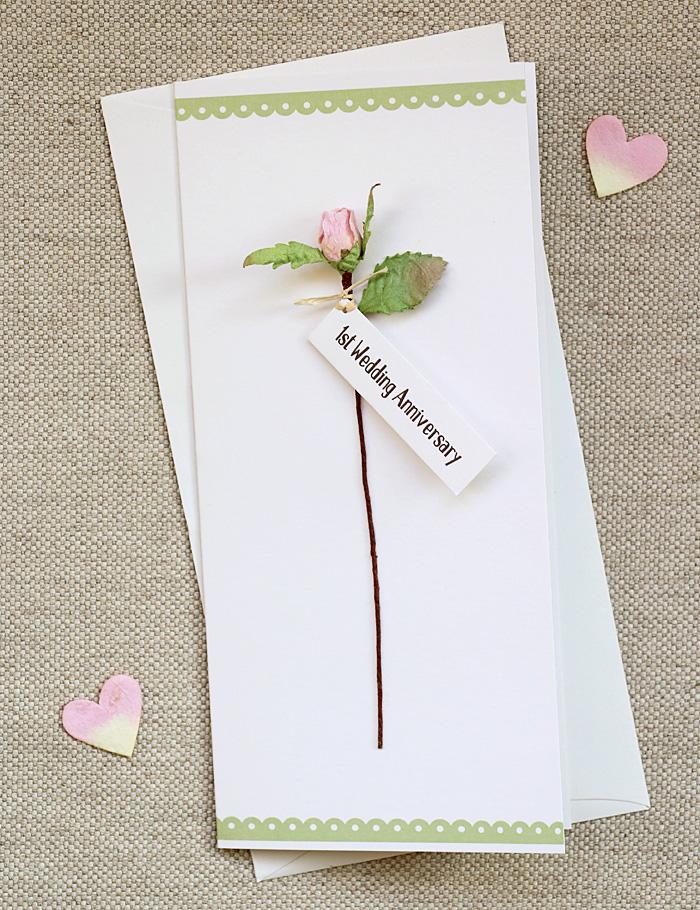 first anniversary card  1st wedding paper anniversary