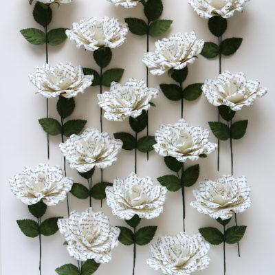 Personalised Paper Roses