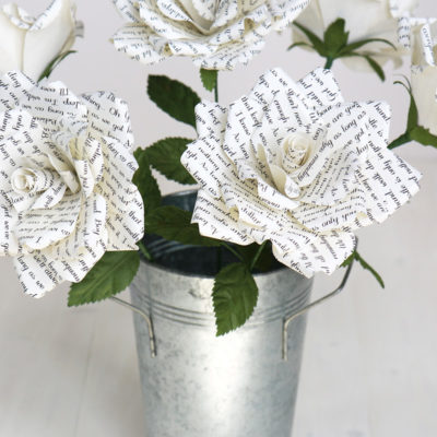Roses with song lyrics