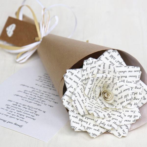 Personalised Paper Rose