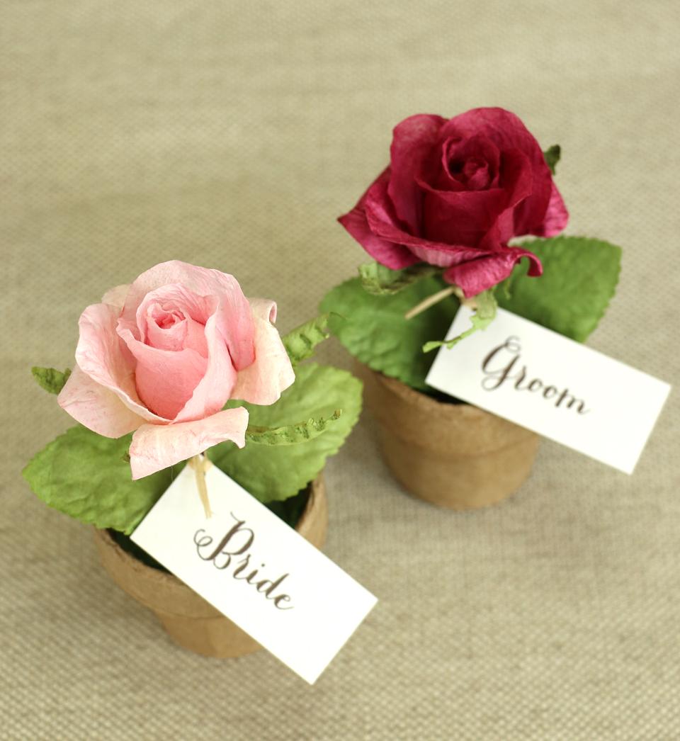 PAPER TREE paper rose pots