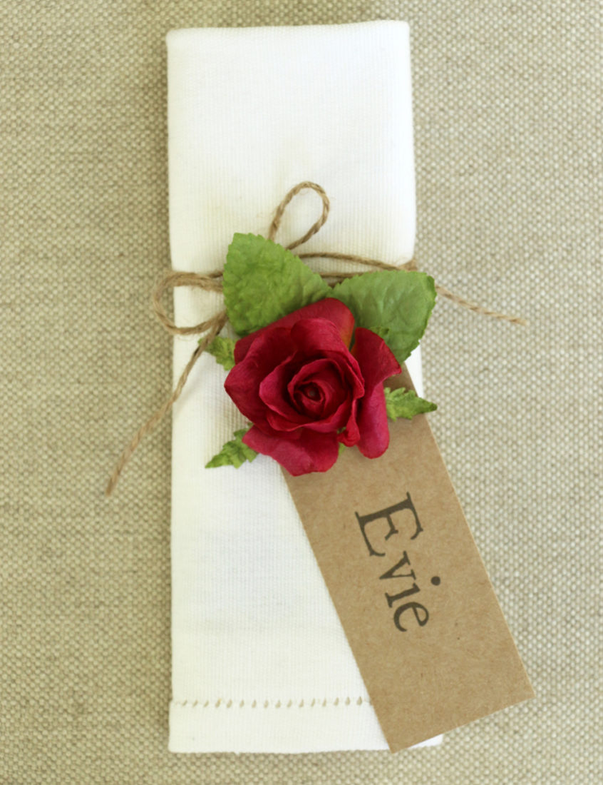 PAPER TREE paper rose tag