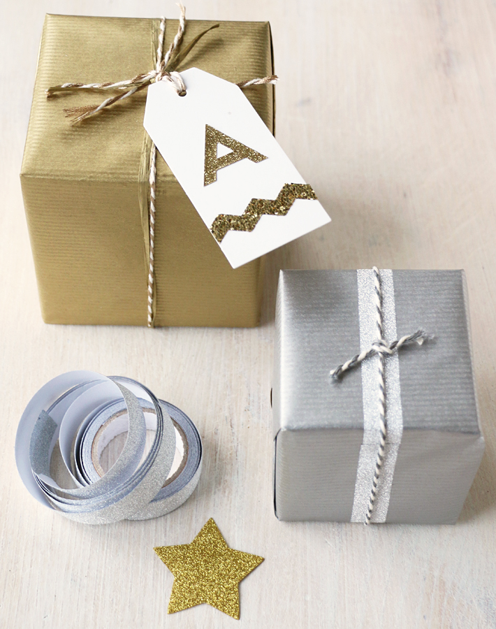 Gold & silver gift wrap