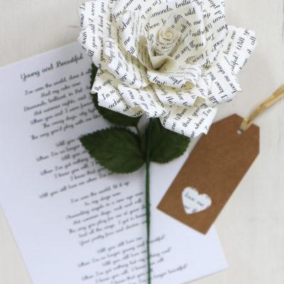 Paper Rose Personalised