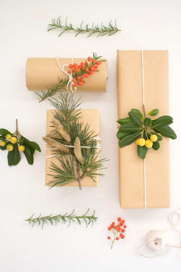 botanical gift wrap