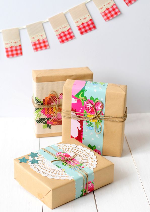 Colourful Gift Wrapping