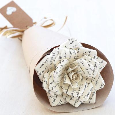 1st Paper Rose I Love You
