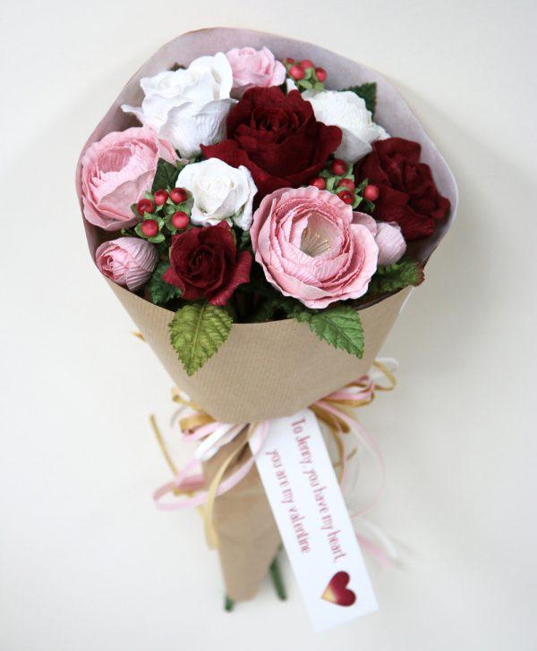 Paper Valentine Bouquet