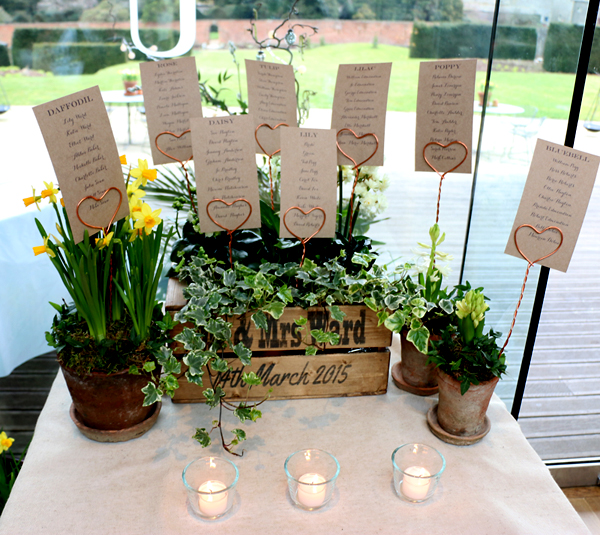 Rustic Box Table Plan