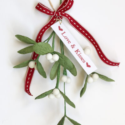 Red ribbon & mistletoe