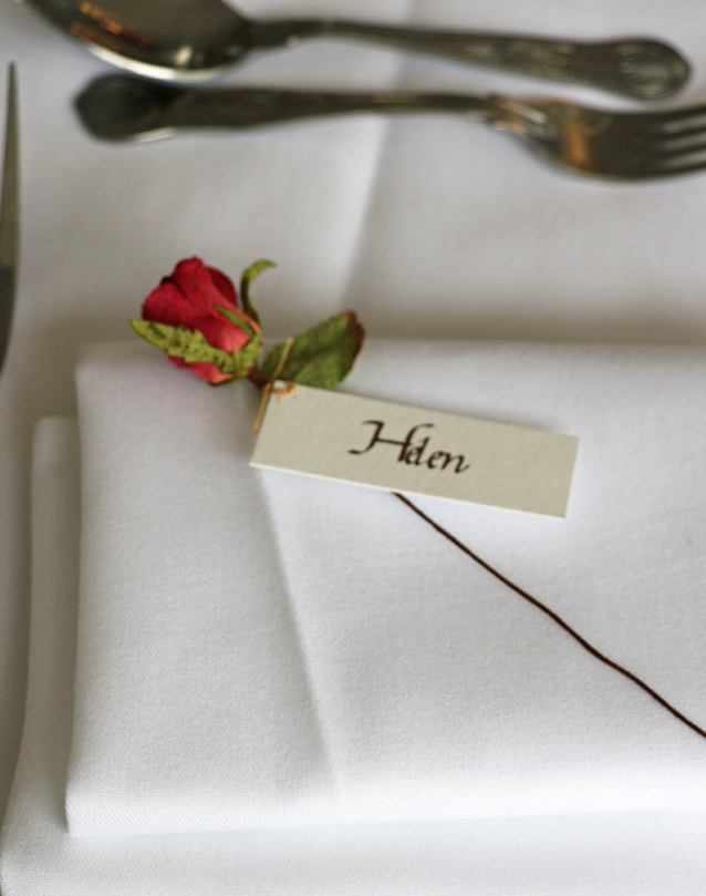 Rose Place Setting