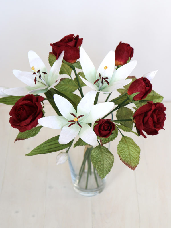 Paper Bouquet Rose Lily