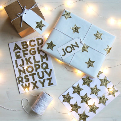 Glitter Star & Alphabet Stickers