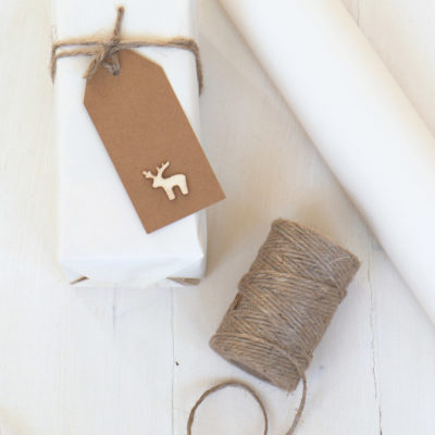 Ivory White Rustic Wrapping Paper