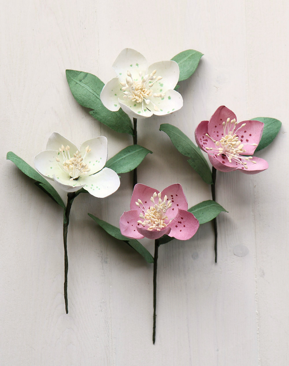 Paper Christmas Rose Gift Topper Decoration Buttonhole