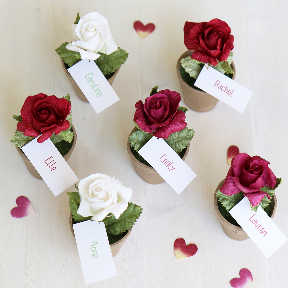 Rose Favour Name Place Card Amp Table Decoration Personalised
