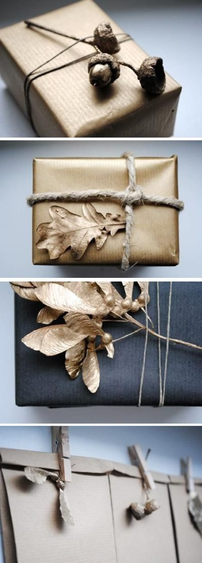 Rustic Gold Gift Wrap