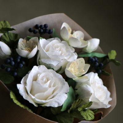 Paper hellebore or christmas rose handmade paper flower mightylinksfo